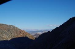 Yosemitest välja ida poole