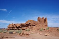 Wupatki pueblo inimesed ehitasid tellistest kõrbesse tuhat aastat püsinud rajatisi.
