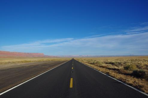 Paria platoo alune tasandik. Minu tee viib sedakaudu Arizonast edasi.