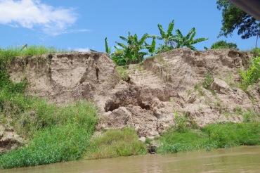 Kallas koosneb siin eranditult jõesetteist ja mis jõgi on andnud selle võtab ta kunagi tagasi. Siin on vaja ärauhutu asemele uued astmed kaevata.