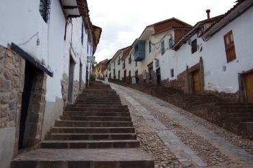 Cusco tänavate stiilinäide.