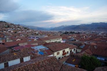 Cusco vaade hosteli terrassilt.