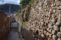 Cusco tänavad: hispaanlaste müürinäide