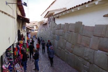 Cusco tänavad: inkade müürinäide